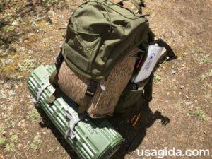 karrimorsfのバックパックにキャンプ道具をパッキング