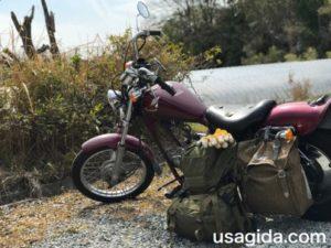 原付バイクのホンダジャズとカリマーSFのプレデター30