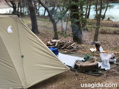 ソロキャンプの風景