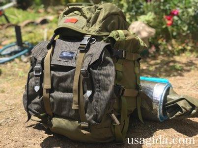 キャンプツーリング入門Aセットをバックパックに収納した様子