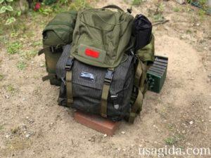 キャンプツーリング入門Bセットをバックパックにパッキング