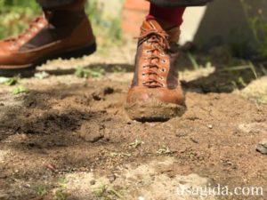 泥を歩くダナーフィールド