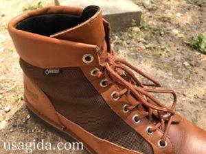 ダナーフィールドの靴紐を通す穴