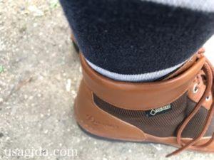 ダナーフィールドと靴下の隙間