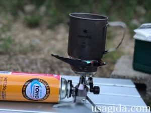ジュニアコンパクトバーナーとマグカップで湯沸かし