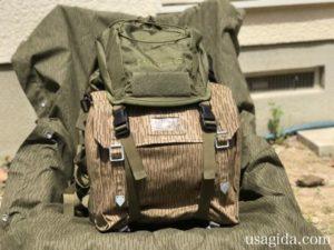 コンバットバッグが装着されたカリマーSFのプレデター30