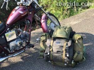 バイクとバックパックでキャンプツーリング
