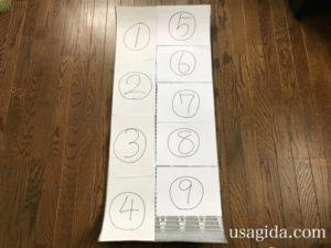 サーマレストのリッジレストソーライトのサイズに合わせてにA4用紙を重ねた