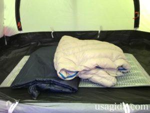 サーマレストのリッジレストソーライトと寝袋