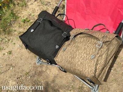 2色の防水サイドバッグ