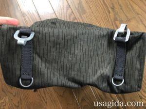防水サイドバッグの底