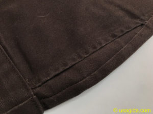 ディッキーズ874の右ポケットの経年変化