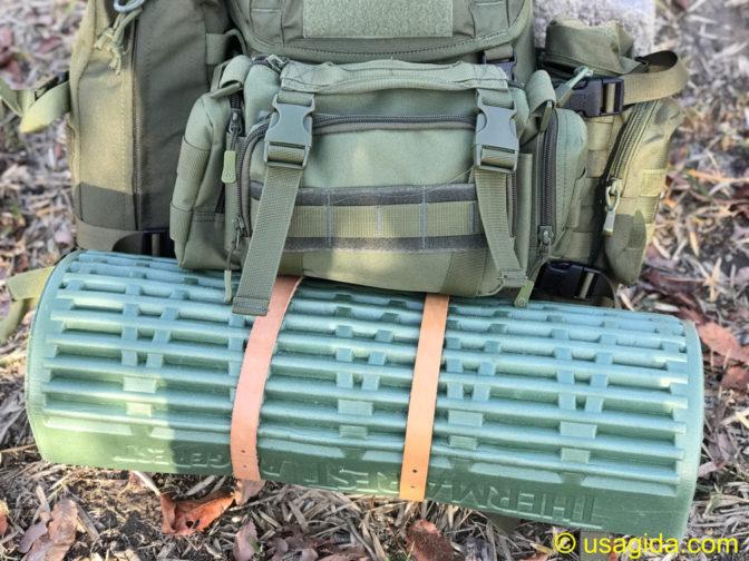カリマーSFプレデター30のカスタムパーツであるチェコ軍レザーベルト