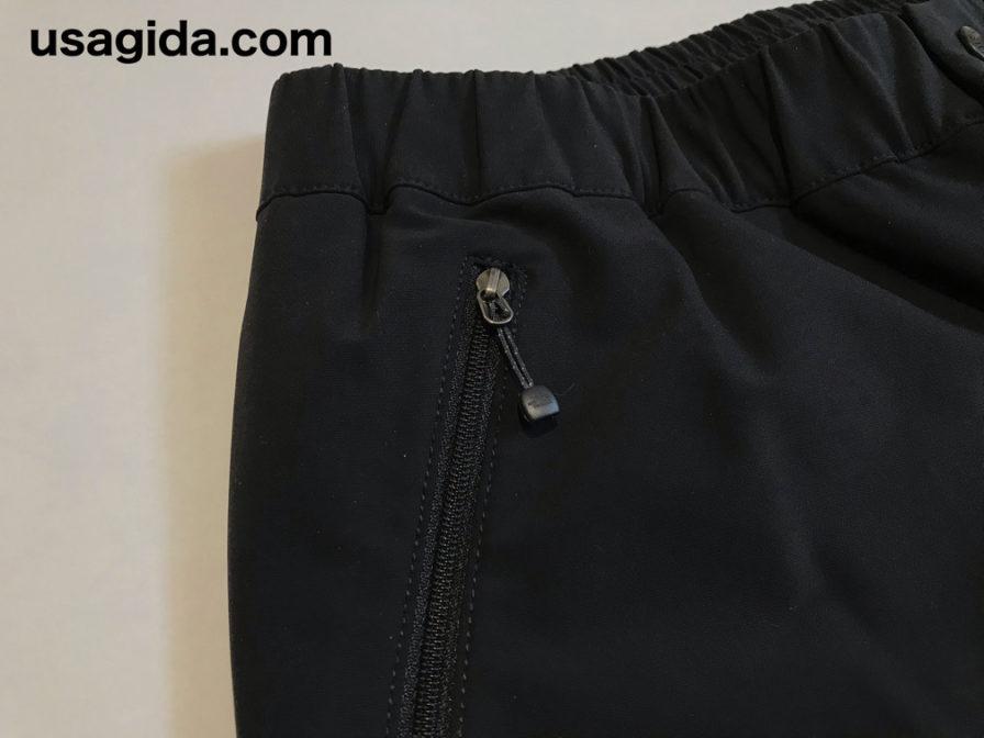 ノースフェイスのアルパインライトパンツのポケットのファスナー