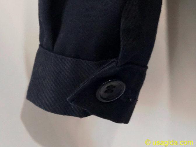 ユナイテッドアスレのカバーオールの袖のボタン