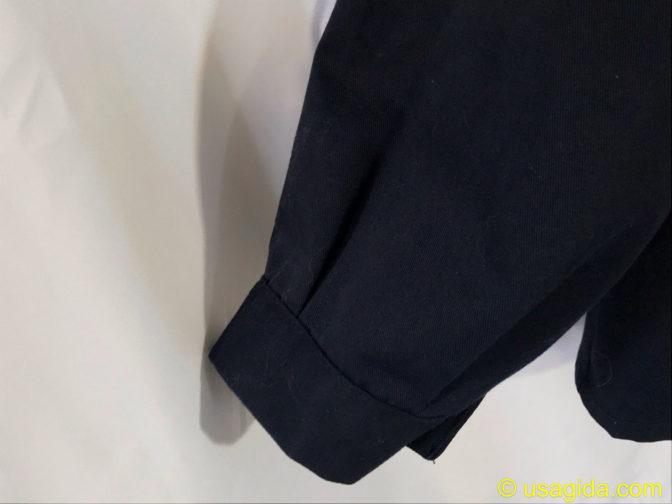 ユナイテッドアスレのカバーオールの袖口