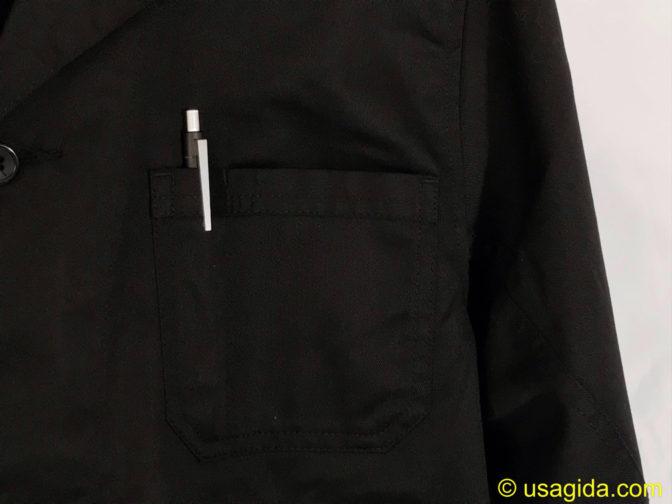 ユナイテッドアスレのエンジニアコートの胸ポケット