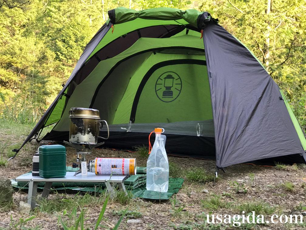 コールマンのツーリングドームSTでキャンプ