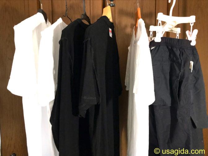 室内で干されている洗濯物