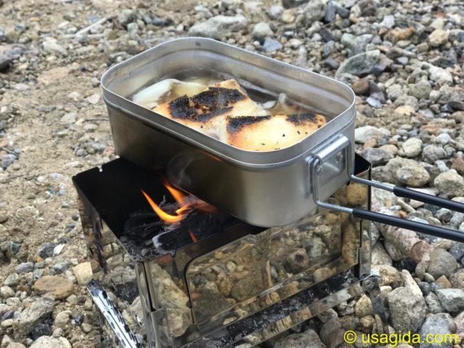 笑'sのB6君と焚き火とメスティンで料理
