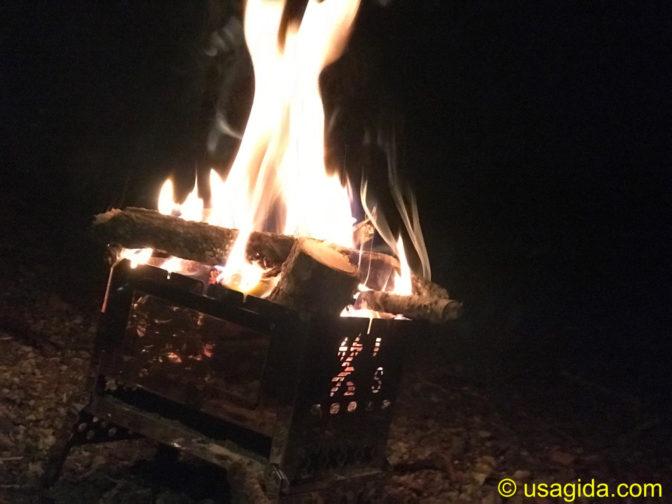 笑'sのB6君と焚き火